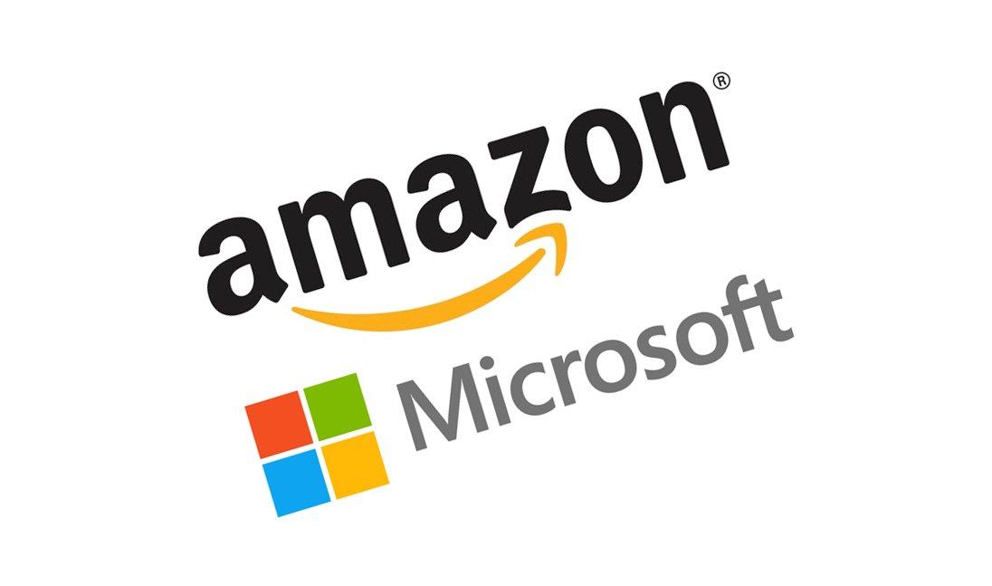Картинка: Microsoft и Amazon удалённая работа