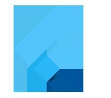 Логотип Flutter. The MASCC